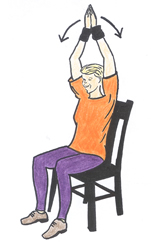 seated arm raise exercise