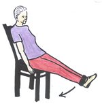seated leg raise exercise