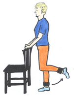 standing knee flexion exercise