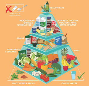 Nutrition Australia's latest food pyramid