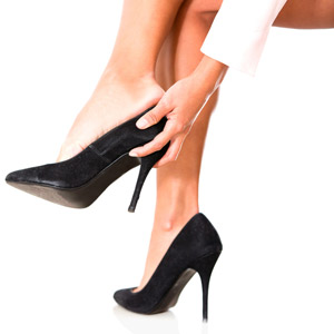 high heels affect ankle strength