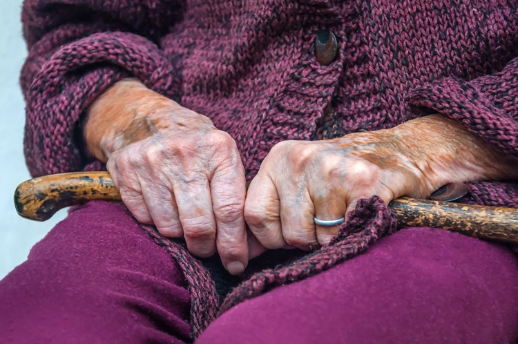 old lady's hands